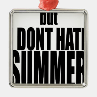 hater summer end vacation flirt romance couple bla metal ornament