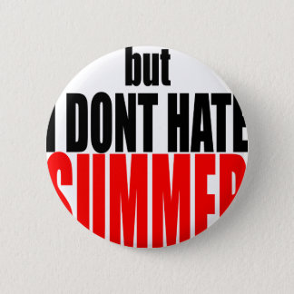hater summer end vacation flirt romance couple red 6 cm round badge