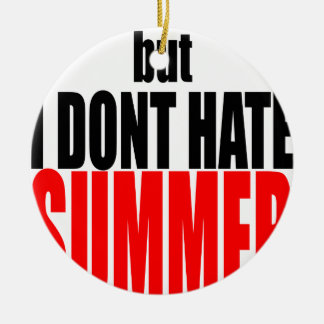 hater summer end vacation flirt romance couple red ceramic ornament
