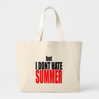 hater summer end vacation flirt romance couple red large tote bag