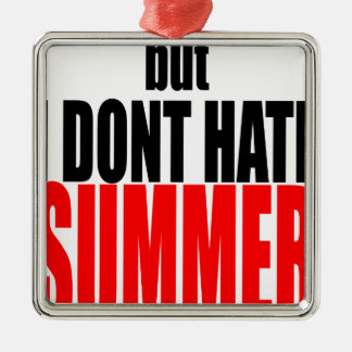 hater summer end vacation flirt romance couple red metal ornament