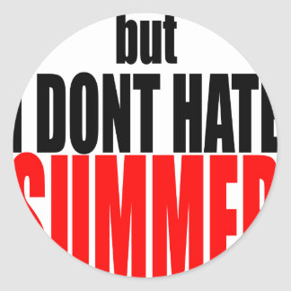 hater summer end vacation flirt romance couple red round sticker