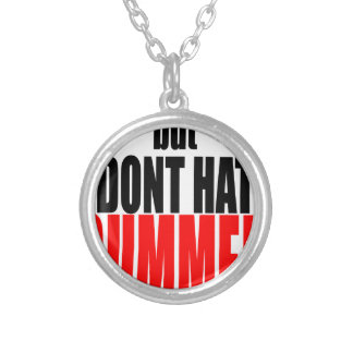 hater summer end vacation flirt romance couple red silver plated necklace
