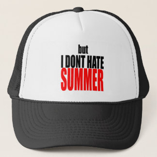 hater summer end vacation flirt romance couple red trucker hat