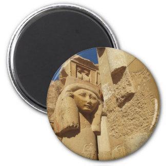 Hathor column - Queen Hatshepsut's Temple, egypt Magnet