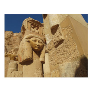 Hathor column - Queen Hatshepsut's Temple, egypt Postcard