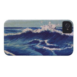 Hatō Zu Waves - Uehara Konen. Japanese Woodblock Case-Mate iPhone 4 Cases