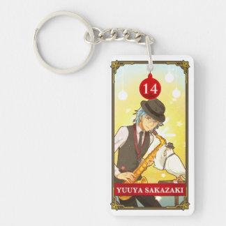 Hatoful Advent calendar 14: Yuuya Sakazaki Double-Sided Rectangular Acrylic Key Ring