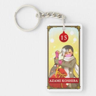 Hatoful Advent calendar 15: Azami Koshiba Double-Sided Rectangular Acrylic Key Ring