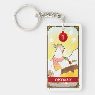 Hatoful Advent calendar 1: Okosan Key Ring