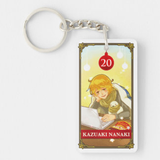 Hatoful Advent calendar 20: Kazuaki Nanaki Double-Sided Rectangular Acrylic Key Ring