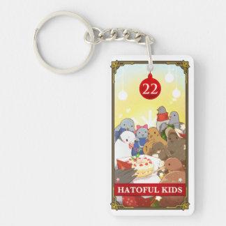 Hatoful Advent calendar 22: Hatoful Kids Double-Sided Rectangular Acrylic Key Ring