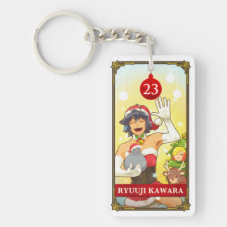 Hatoful Advent calendar 23: Ryuuji Kawara Double-Sided Rectangular Acrylic Key Ring