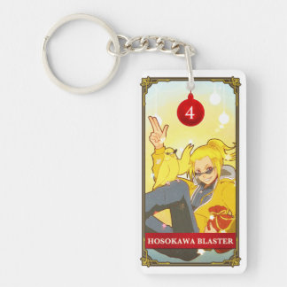 Hatoful Advent calendar 4: Hosokawa Blaster Double-Sided Rectangular Acrylic Key Ring