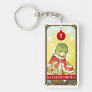 Hatoful Advent calendar 5: Nageki Fujishiro Double-Sided Rectangular Acrylic Key Ring