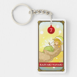 Hatoful Advent calendar 7: Kazuaki Nanaki Double-Sided Rectangular Acrylic Key Ring