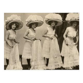 Hats and Petticoats Postcard