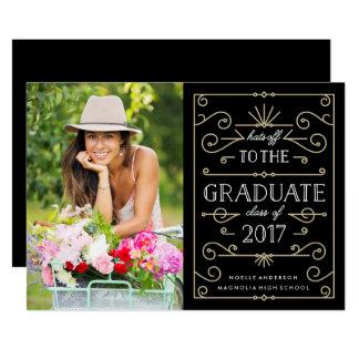 Hats Off Graduation Photo Announcement