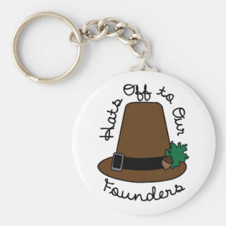 Hats Off to Our Founder Keychain
