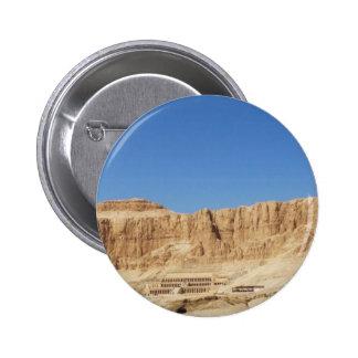 Hatshepsut Temple panoramic photograph 6 Cm Round Badge