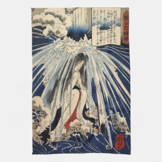 Hatsuhana Doing Penance by Utagawa Kuniyoshi Tea Towel