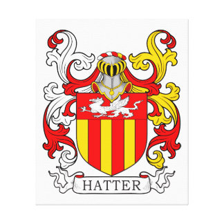 Hatter Coat of Arms Stretched Canvas Prints