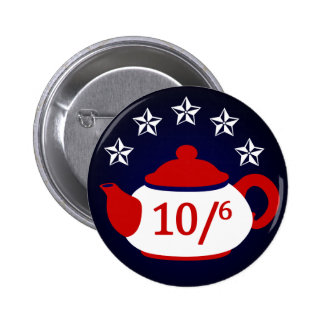 Hatter for President:  Tea Party Button