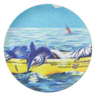 Hatteras Style Liferaft Plate