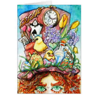 Hatter's New Spring Hat Design Card