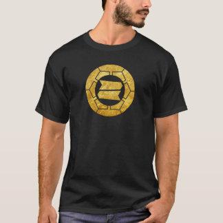 Hattori clan kamon in faux gold T-Shirt
