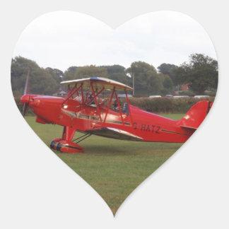 Hatz Biplane Heart Sticker