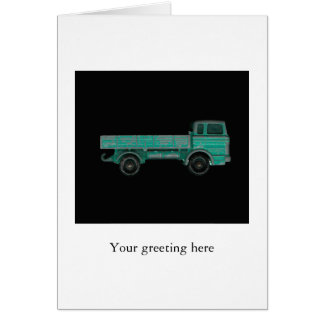 Haulers movers transport vintage toy truck photo greeting card
