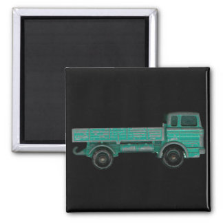 Haulers movers transport vintage toy truck photo square magnet