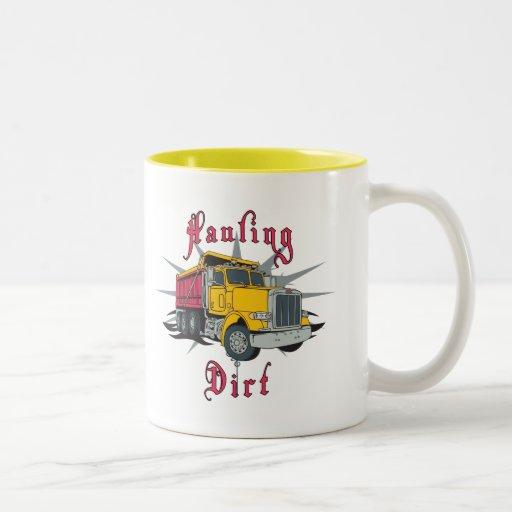 Hauling Dirt Dump Truck Mugs