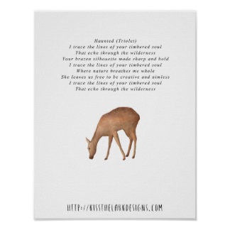 Haunted - 8.5 x 11 Poetry Printable Poster