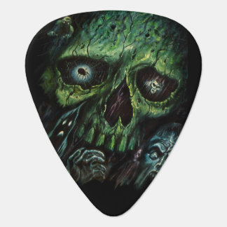 Haunted Attraction Skulls Ghosts Vintage Plectrum