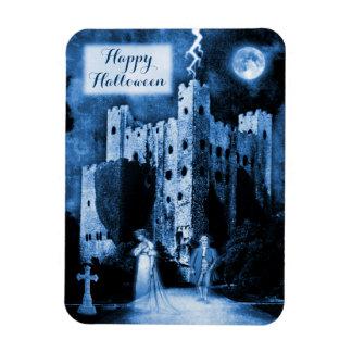 Haunted Castle Gothic Happy Halloween Flexible Magnet