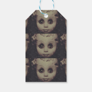 haunted doll gift wrap gift tags