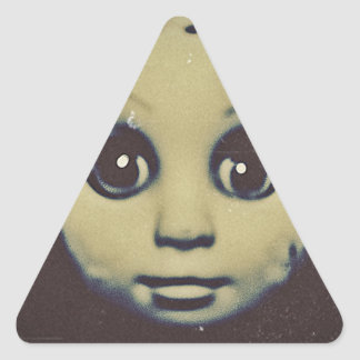 haunted doll products triangle sticker