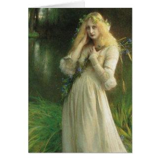 Haunted Eyes Ophelia Greeting Card
