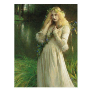 Haunted Eyes Ophelia Postcard
