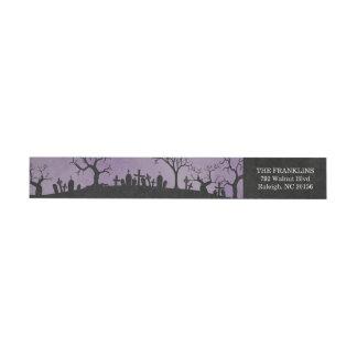 Haunted Graveyard Halloween Return Address Label Wraparound Return Address Label