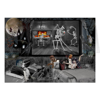 Haunted Halloween Drive-in Card