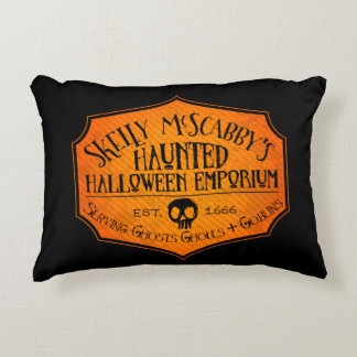 Haunted Halloween Emporium Accent Pillow Accent Cushion