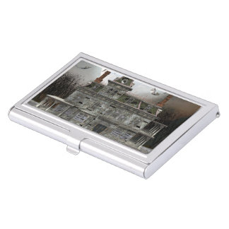 Haunted Halloween House 2 Business Card Case
