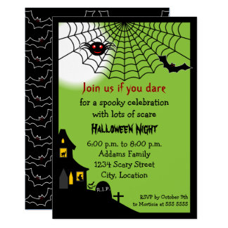 Haunted Halloween Party Card