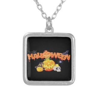 Haunted Halloween Silver Plated Necklace