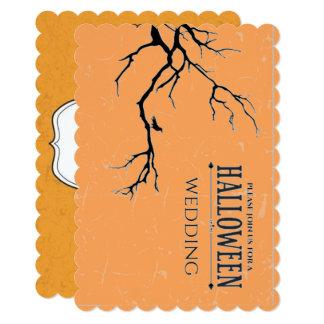 Haunted Halloween Wedding Card
