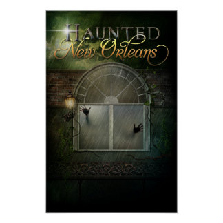Haunted Hotel Ghost Window Poster
