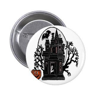 Haunted House 6 Cm Round Badge